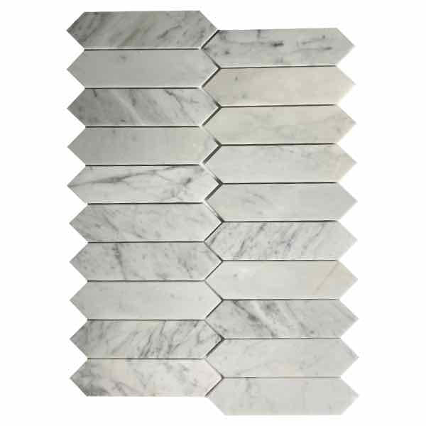 Carrara Elongated Hexagon 2