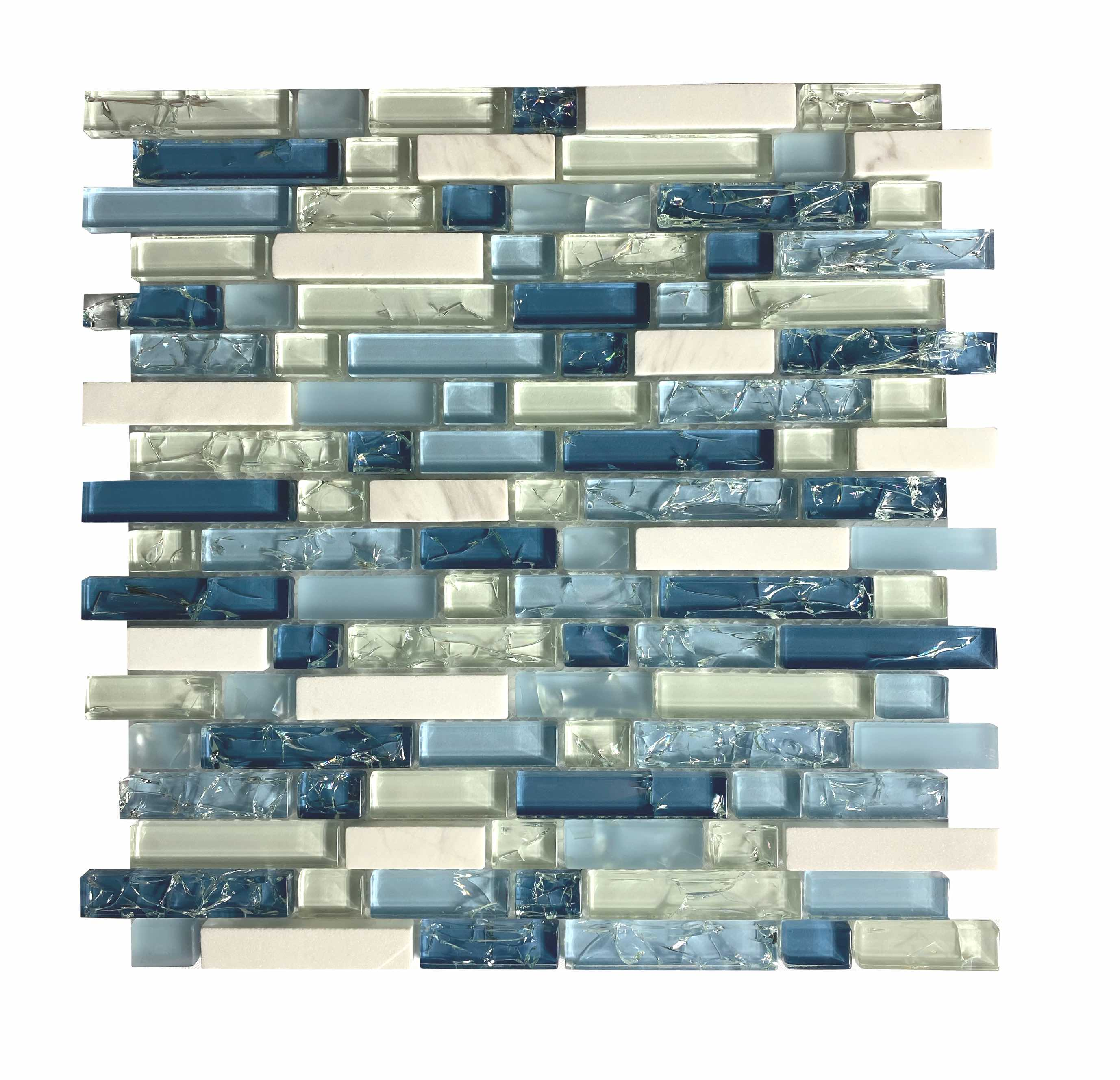 Blue Crackle Glass - FAOQ-4 - Faiola Tile