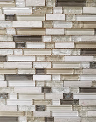 Earth Tone Crackle Glass Mix - FAOQ-5 - Faiola Tile