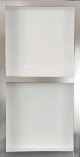 Porcelain/Metal Niche - White 12