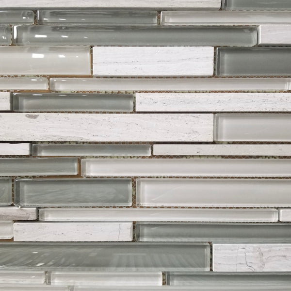 Escarpment Grey Glass Mosaic - N149
