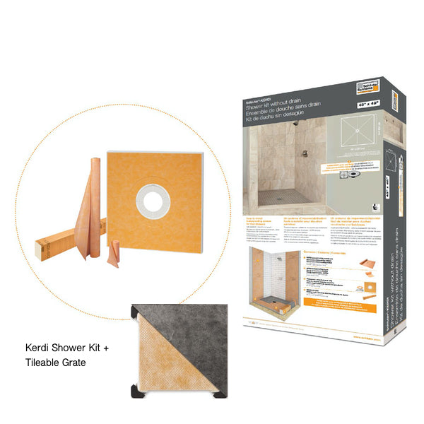 Schluter Kerdi Shower Kit - Faiola Tile