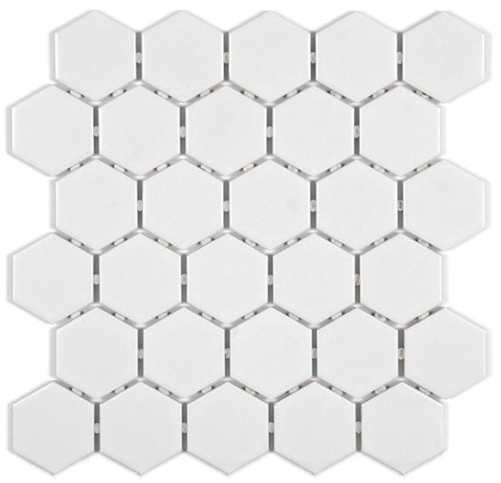 Solid Colours: Hexagon Mosaic - Faiola Tile