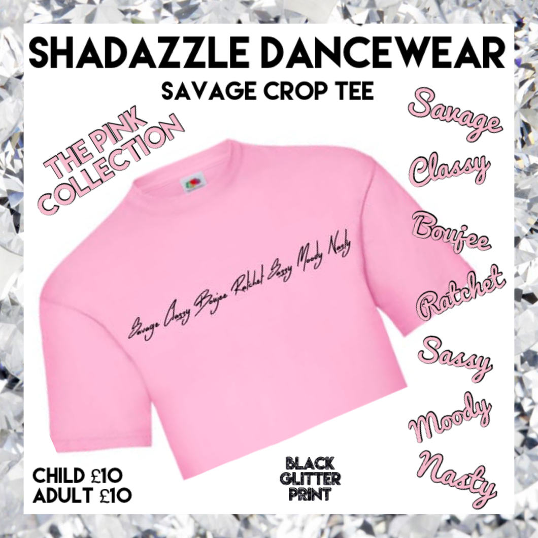 Savage Crop Tee - Pink