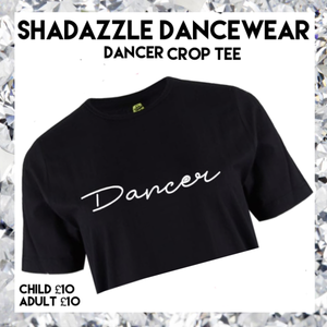 Dancer Crop Tee - Black