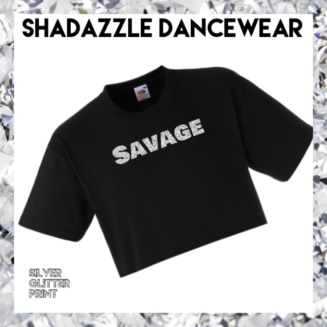 Savage Crop Tee - Black