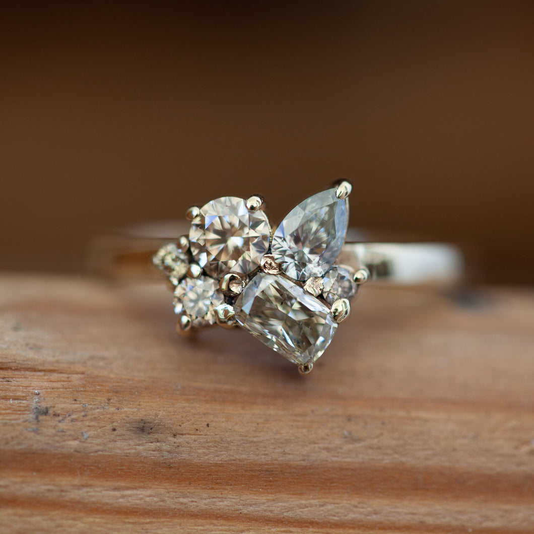 Cluster C diamond ring