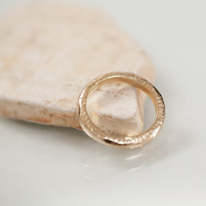 Faceted-raw ring
