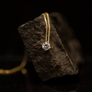Soliter diamond necklace