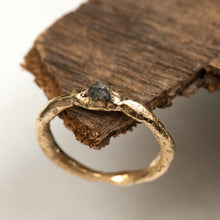 Load image into Gallery viewer, Raw gold ring with rough diamond