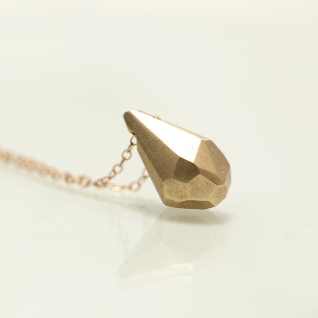 Giant 14K Faceted-crystal necklace