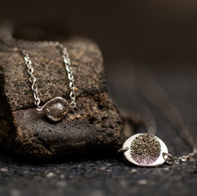 Load image into Gallery viewer, Rough diamond with a finger-print necklace