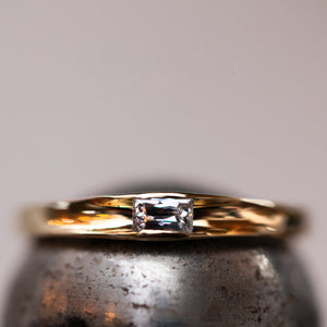 Baguette soliter engagement ring