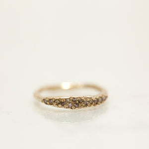 Thin raw concave ring