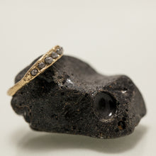 Load image into Gallery viewer, Rough concave ring with deep raw diamonds
