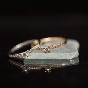 Eternity soliter gold ring