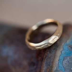 Soft n Thick raw gold ring