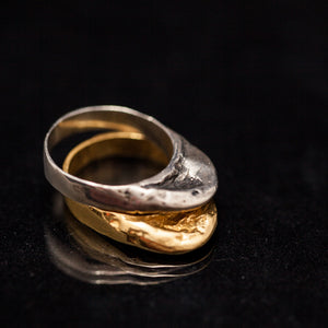Tall Raw gold rings