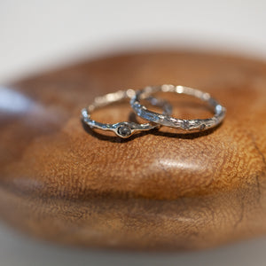 Buried diamond branch ring