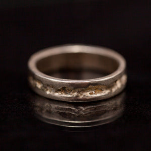 Raw & Smart thick silver rings