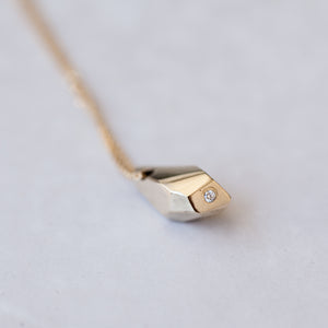 14K Faceted-crystal necklace