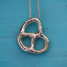 Load image into Gallery viewer, 14k Bagel necklace