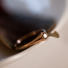 Load image into Gallery viewer, Smooth Brown diamond and red gold ring