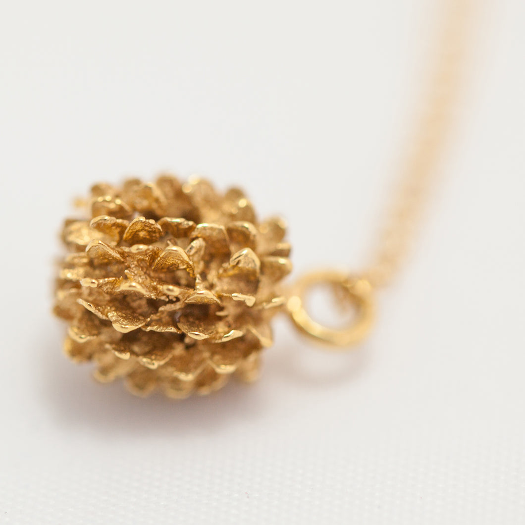Organic spiky fruit necklace