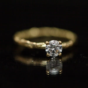 White diamond branch ring