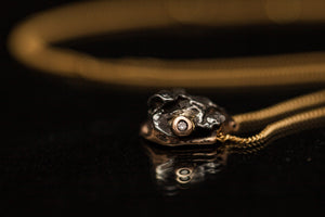 Gold meteorite Necklace