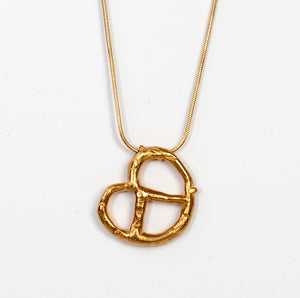 Bagel necklace gold plated