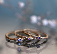 Load image into Gallery viewer, Colorful Sapphire branch rings