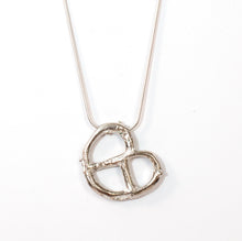 Load image into Gallery viewer, Silver bagel necklace