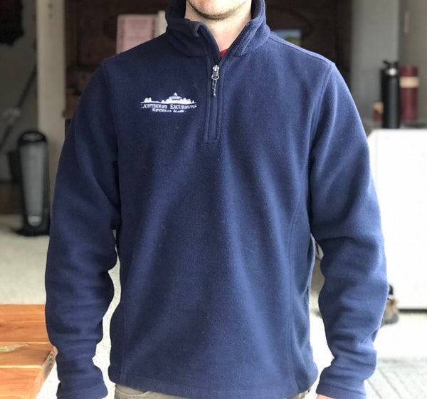 1/4 Zip Unisex Fleece (Navy)