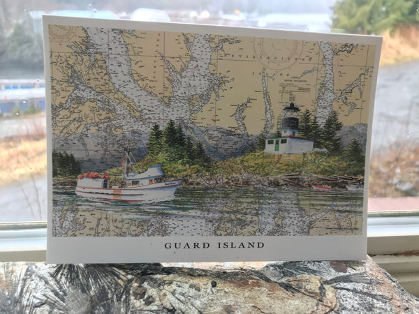 Guard Island Lighthouse Greeting Card