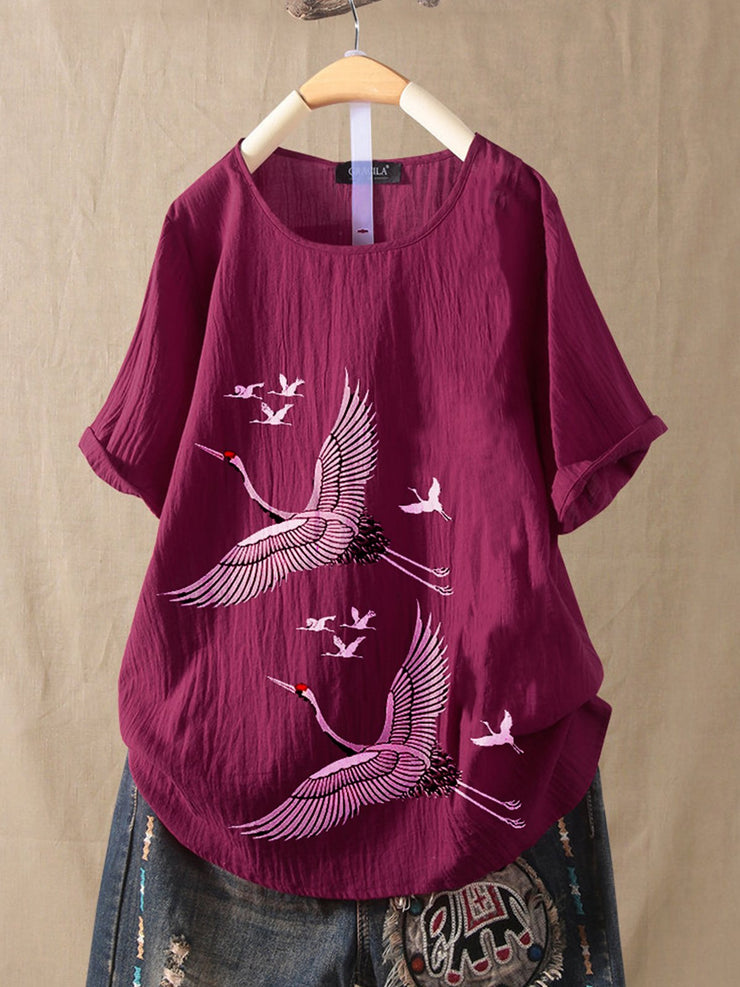 Violet Vintage Cotton-Blend Shirts & Tops