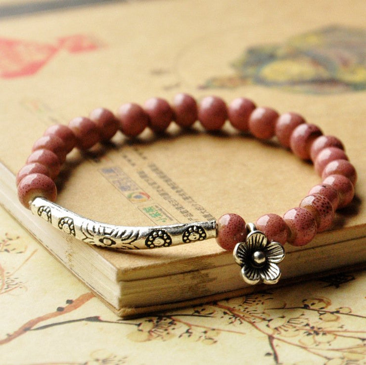 Fashion Flower Ceramic Bracelet