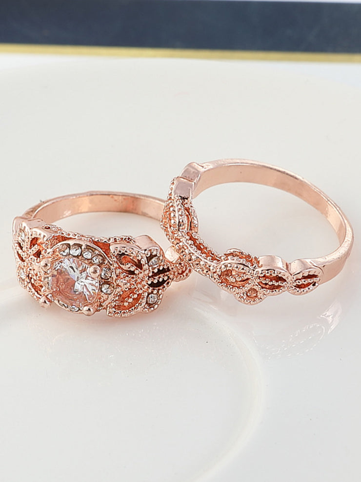 Rose Gold Alloy Vintage Rings