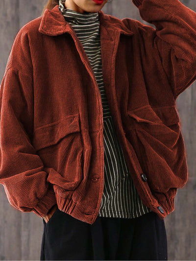 Shift Shawl Collar Plain Long Sleeve Outerwear