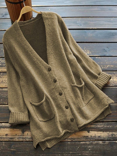 Coffee Plain Vintage Cotton-Blend Sweater