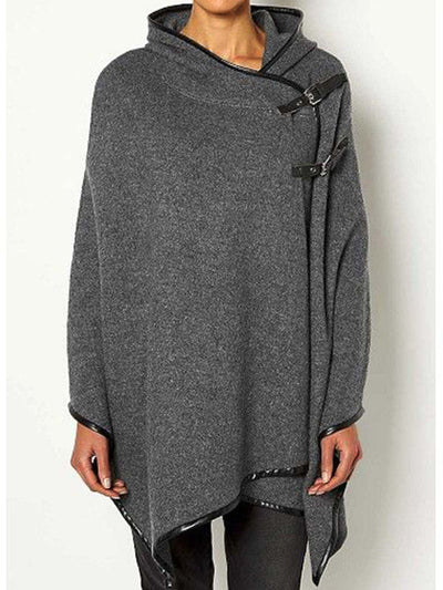 Shift Chain-Trimmed Plain Casual Sweatshirt