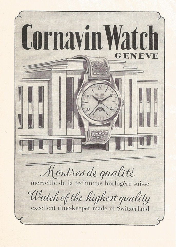 1953 Advert for Cornavin Watches