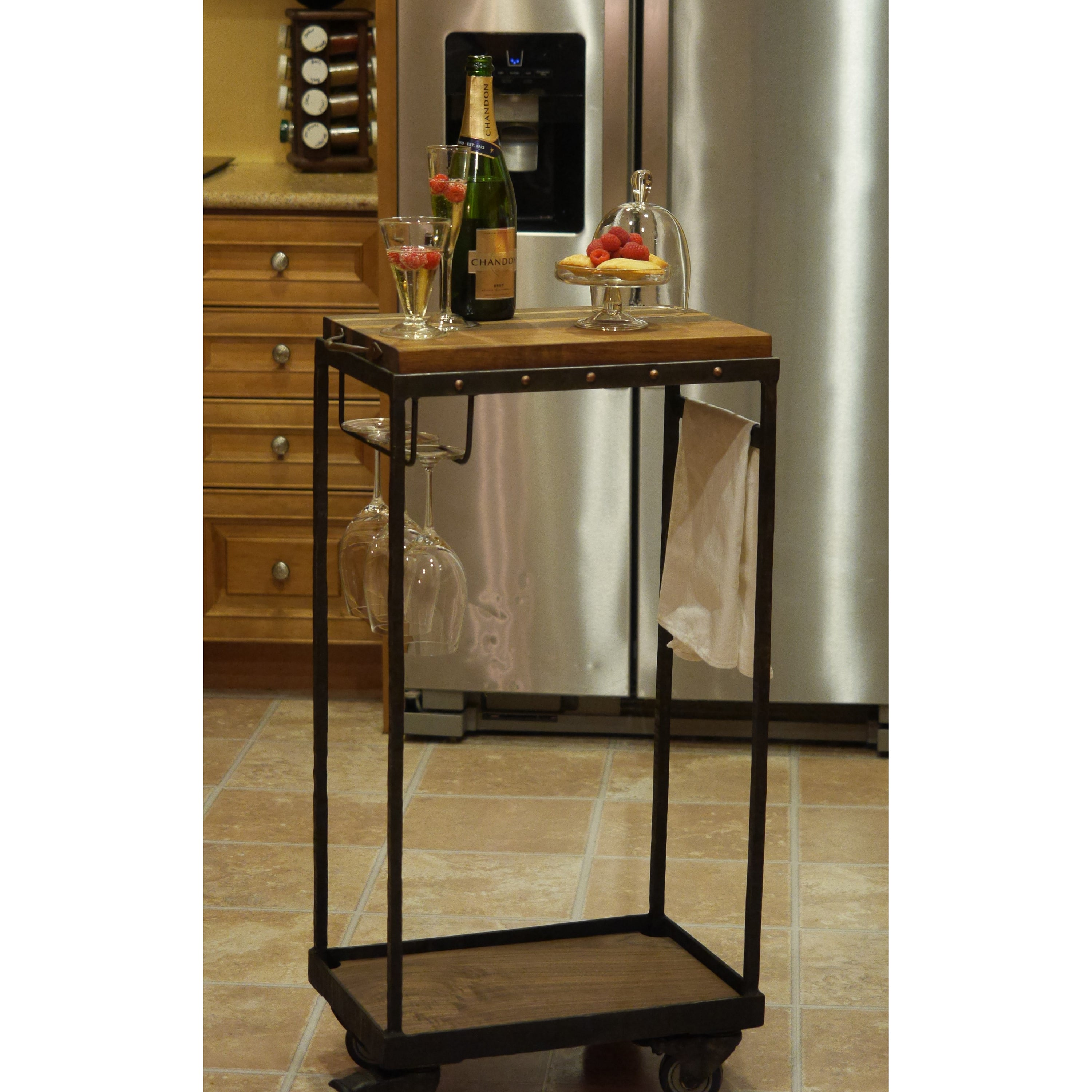 Handmade Artistic Rustic Bar Cart Coffee Furniture