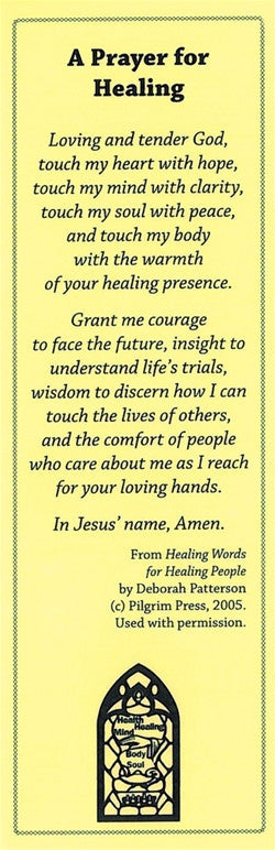Prayer for Healing Bookmark