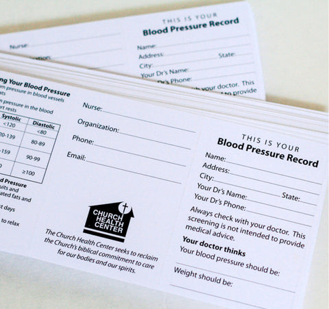Blood Pressure Cards
