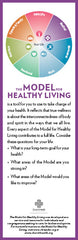 Model for Healthy Living Bookmark – Pack of 25