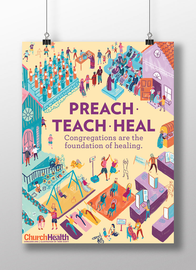 Preach •  Teach • Heal Digital Print