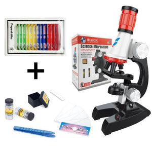 Science Microscope Kit for Children 100x 400x 1200x