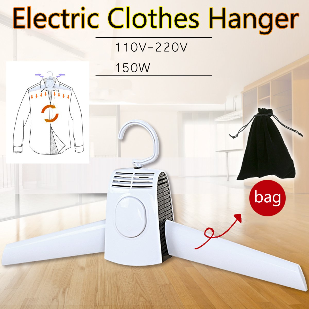 2 in 1 Electric Clothes Drying Rack Smart Hang
