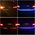 7 Color Flowing Type DRL Trunk Box Turn Signals Rear Lights LED Strips Car Braking Light Day Running Lights Decoration Lamp